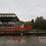 SFU in the rain. The usual.
